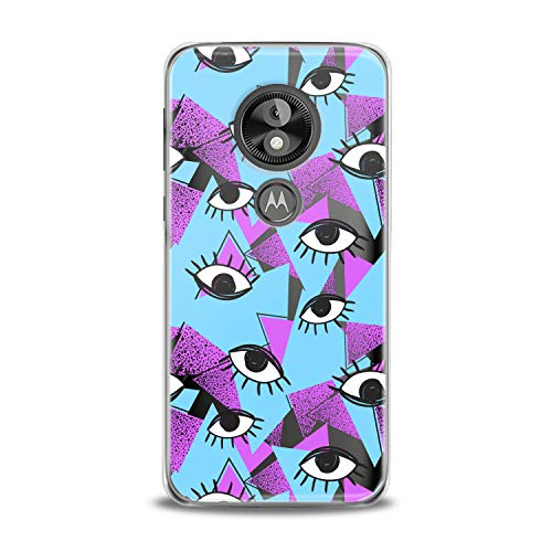 Lex Altern TPU Case for Motorola Moto G7 Power One P30 P40 Note G6 Z4 Bright Purple Black Eyes Pattern Beast Clear Cover Pink Colorful Silicone Blue Classy Protective Transparent Girl Women Present