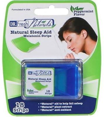 Lot of 6 Dr. Fresh Natural Sleep Aid Melatonin Strips (18 strips/pkg x 6 pkg)