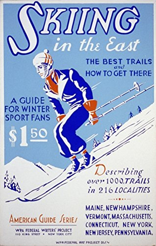 WPA Skiing in the East 1939 Poster Print by Unknown (18 x - Wpa 1939 Print