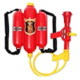 5billion Baby Backpack Fireman Toy Water Gun Sprayer for Kids Nozzle Air Pressure Water Gun for Beach Lake Tourism Outdoor Activities Toy
