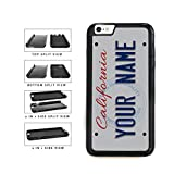 BleuReign(TM) Personalized Custom Name California State License Plate 2-Piece Dual Layer Phone Case Back Cover For Apple iPhone 6 6s (4.7 Inches Screen)
