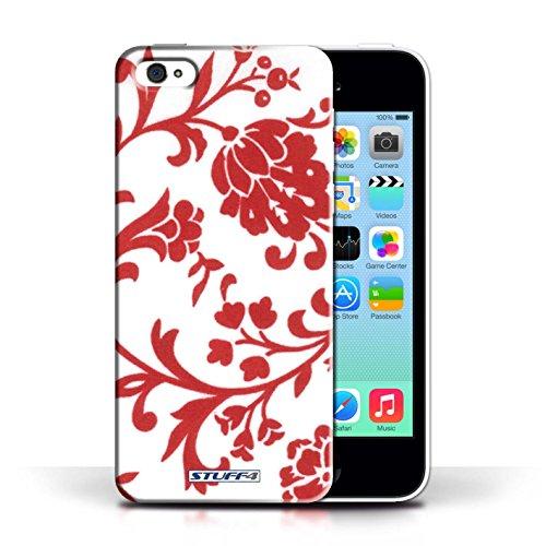Etui / Coque pour Apple iPhone 5C / Fleurs Rouge conception / Collection de Motif floral