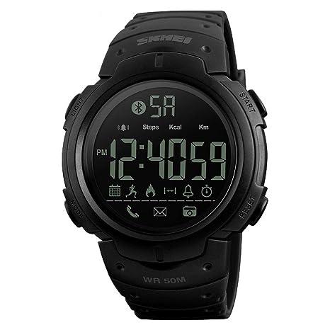 WULIFANG Los Hombres Smart Watch Relojes Deportivos Reloj Digital Moda Cámara por Control Remoto App Recuerda