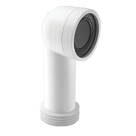 McAlpine WC-CON8 90° WC Pan Connector White 110mm: Amazon co uk: DIY