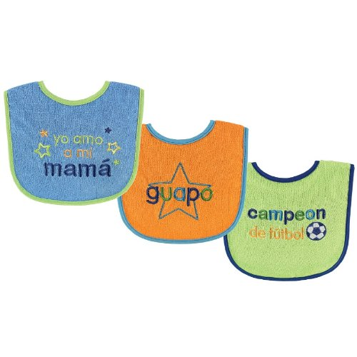 Luvable Friends Spanish Bibs 3 Count