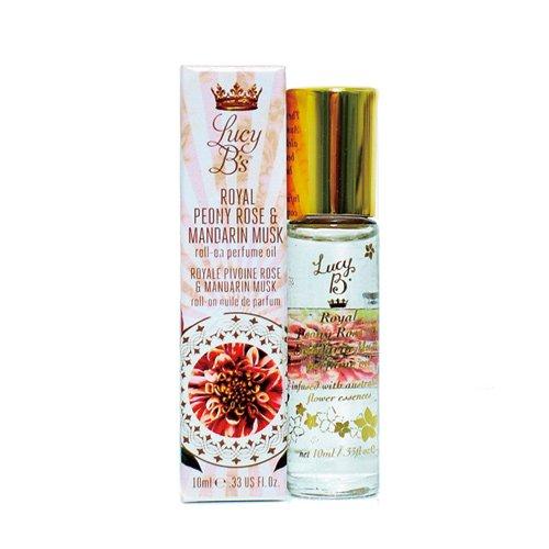 Lucy B Cosmetics Roll On, Royal Peony Rose and Mandarin Musk, 0.33 Fluid Ounce - Mandarin Rose Perfume
