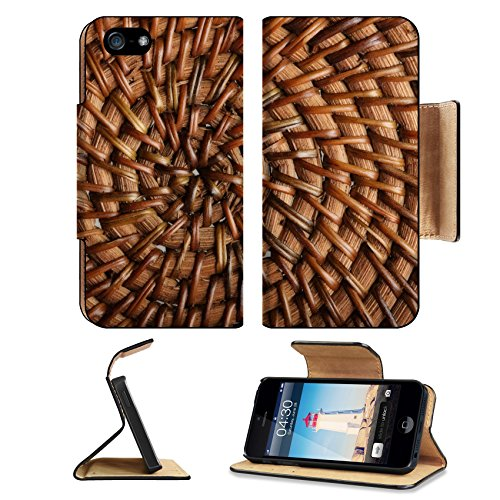 Liili Premium Apple iPhone 5 iphone 5S Flip Pu Leather Wallet Case Woven wooden texture iPhone5 Photo 4252800 Simple Snap Carrying