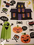 Halloween Window Cling ~ Mansion, Bats, Ghosts, Pumpkins & More (15 Clings)