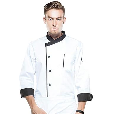 info for 38ce8 ec689 Dooxii Unisex Donna Uomo Autunno Manica Lunga Giacca da Chef Traspirante  Professionale Torta di Cottura Hotel Mensa Uniformi Divise da Cuoco