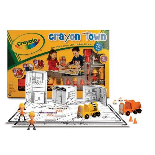 Wild Planet Crayola Crayon Town Large Mat Construction Set