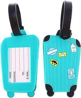 Vosarea Etichette per Bagagli 2PC Etichette per indirizzo ID Etichette Personalizzate Etichette per valigie per Viaggio Zaino da Viaggio - Lago Blu