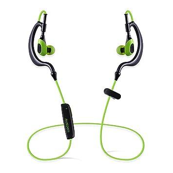 AUSDOM S07 Wirelss Bluetooth Deportes Auricular con micrófono integrado (Verde y Negro): Amazon.es: Electrónica