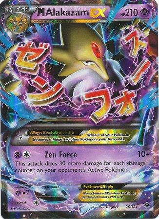 Alakazam Pokemon Card - Pokemon - Mega-Alakazam-EX (26/124) - XY Fates Collide - Holo