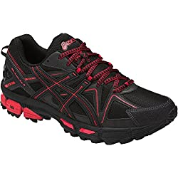 ASICS Men's Gel-Kahana 8 Running-Shoes, Black/Classic Red/Phantom, 11 Medium US
