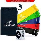 Yo.Fitness Bandas de Resistencia para Ejercicio en Casa o Gimnasio | Set de 5 Ligas de Acondicionamiento Fisico