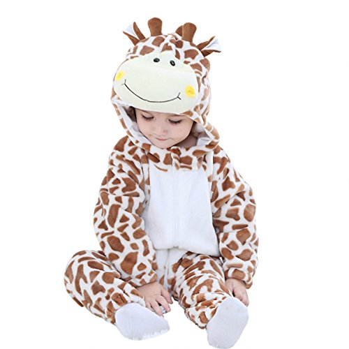 MerryJuly Unisex-Baby Animal Onesie Costume Cartoon Outfit Homewear (70cm/(3-6 Months), Giraffe)]()