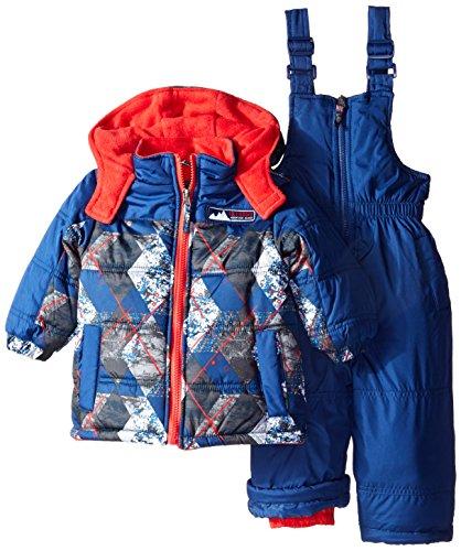 Ixtreme Baby Boys' Geo Diamond Print Snowsuit, Navy, 12 -