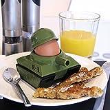 Panzer Portauovo a forma di soldato in guerra con taglia-toast