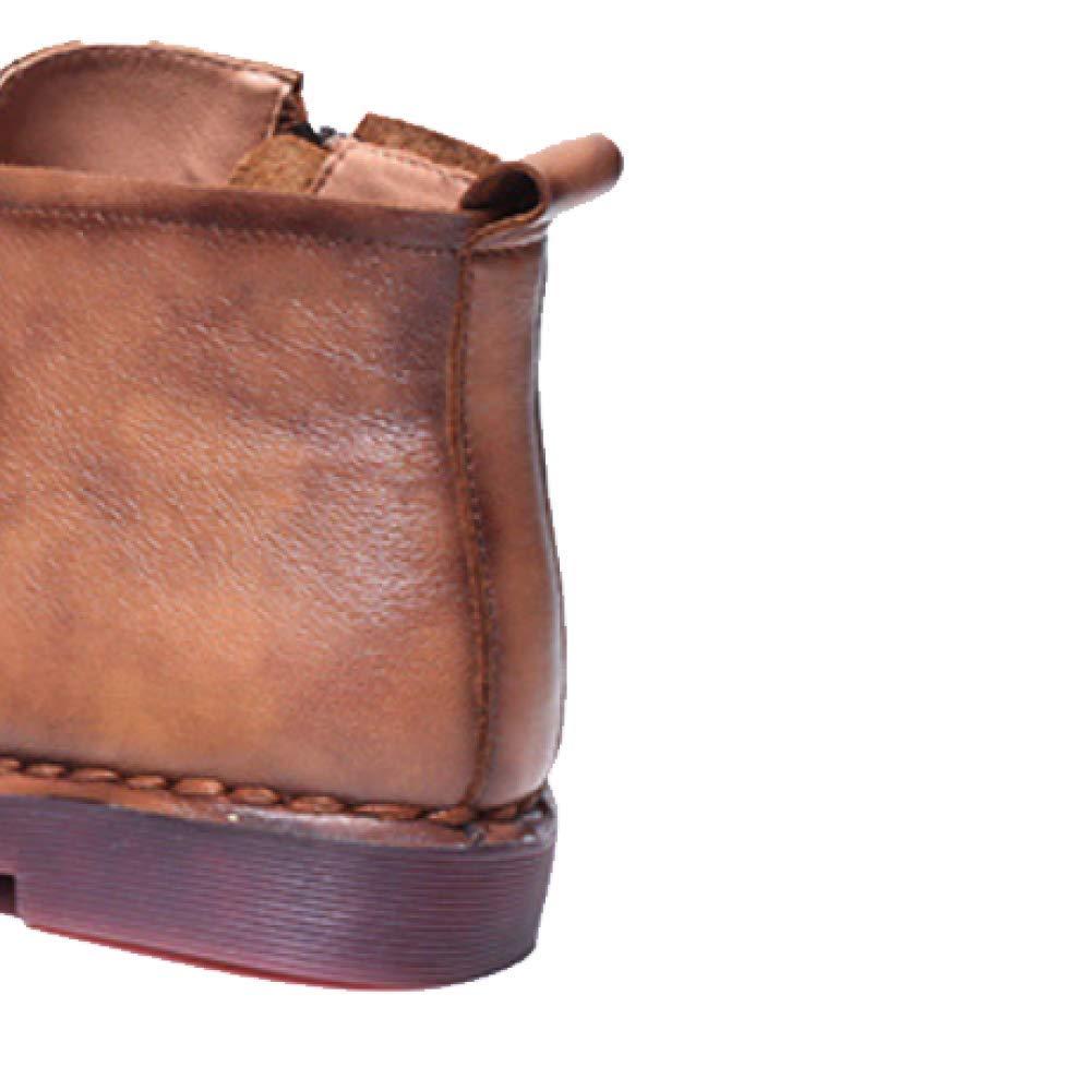 ZQZQ ZQZQ ZQZQ Stiefelies Damenschuhe Leder Vintage Mode Tragbar 2b4d1e