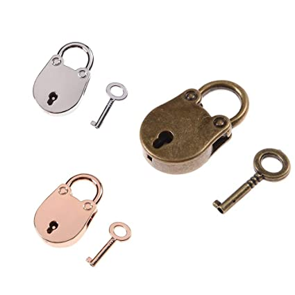 4288fc4cc40a Baguio-Store - 1 Set Mini Archaize Padlocks Key Lock With key Old ...