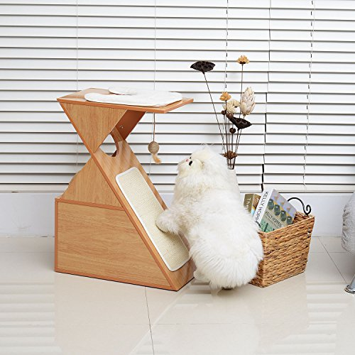 Hot Sale! 28'' Cat Scratcher Furniture Tree Kitten Condo Perch Pet Play Toy House w/Cushion by Polar Bear's Pet Shop