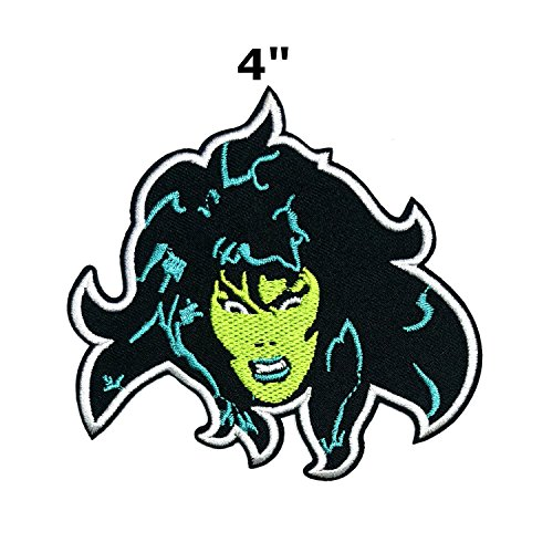 She Hulk Face Marvel Comics Superhero Movies Cartoon Embroidered Sew or Iron-on Patch Badge DIY Application Appliques for $<!--$5.97-->