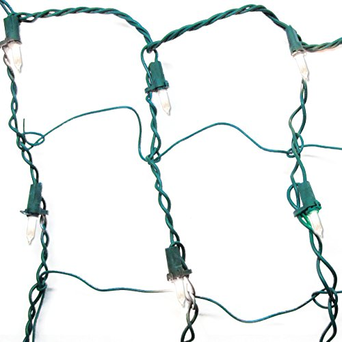 Brite Star 150 Count Clear Twinkling Net with Green Wire
