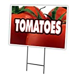 TOMATOES 18''x24'' Yard Sign & Stake outdoor plastic coroplast window