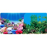 """9099 23.3"""" x 60"""" Double Sided Fish Tank Aquarium Background Colorful Plant / Green Grass"""