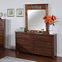 Sunny Designs Santa Fe 6 Drawer Dresser in Dark Chocolate