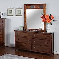 Sunny Designs Santa Fe 6 Drawer Dresser in Dark Chocolate