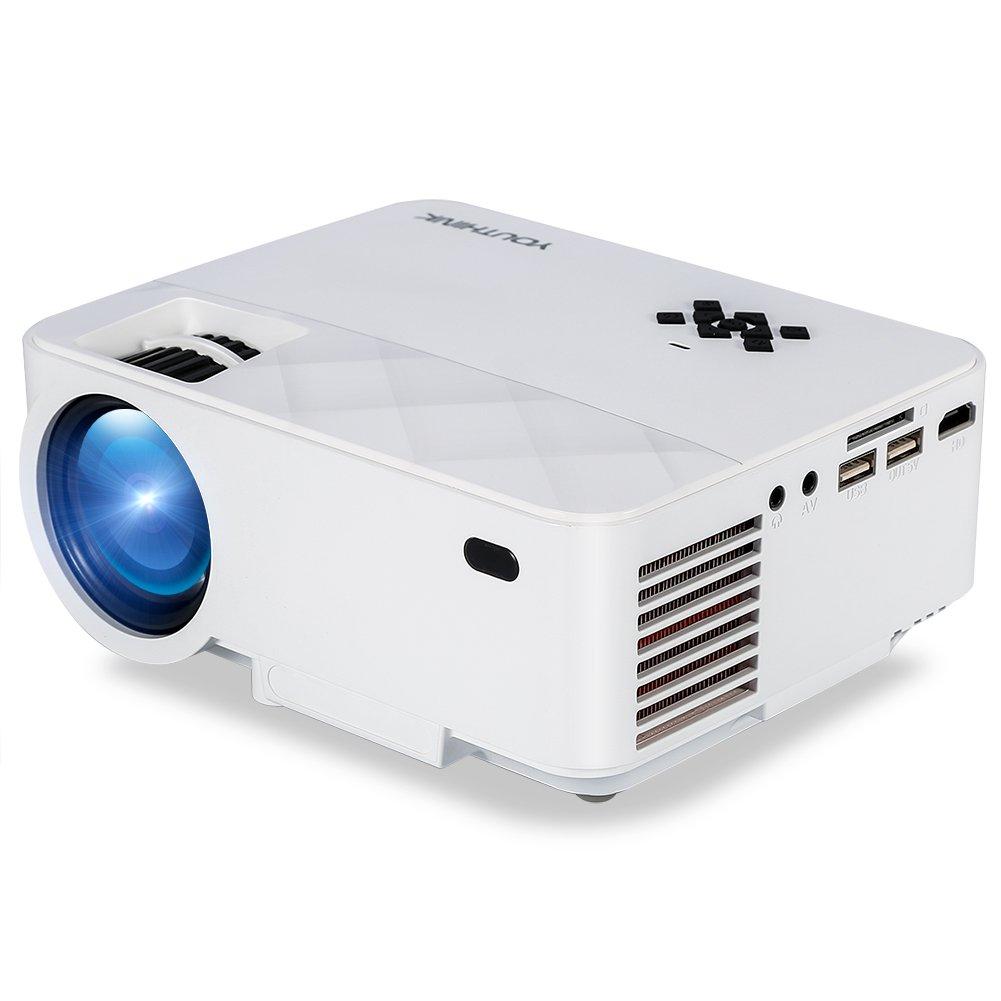 Video Proyector Full HD 1080P Mini Proyector LED 1500 Lúmenes 800 ...