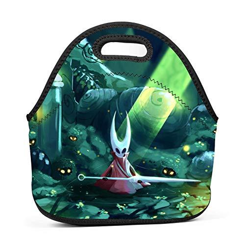 Lunch Bag Cool Hor-net Hollow Kni-GHT Lunch Box Tote 3D Waterproof Lightweight for Women Men Boys Girls School Work