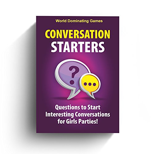 Conversation Starters: Questions to Start Interesting Conversations for Girls Parties, Bachelorette! Travel Optimized Deck Game by World Dominating Games