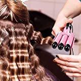3 Barrel Curling Iron Wand Dual Voltage Hair