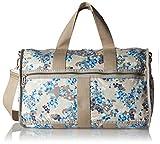 LeSportsac Luggage Women's CR Large Weekender Flower Cluster Khaki Luggage