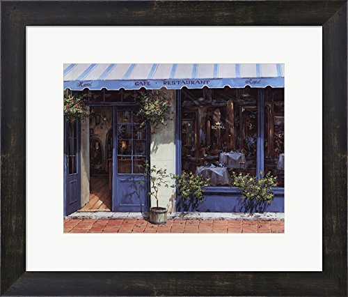 Cafe Royal by Viktor Shvaiko Framed Art Print Wall Picture, Espresso Brown Frame, 17 x 14 ()