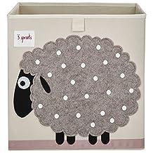 3 Sprouts Storage Box, Sheep, Beige