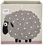 3 Sprouts Organizer Container Cube Storage Box for Kids & Toddlers, Sheep