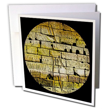 Scenes from the Past Magic Lantern - Ancient Egyptian Wall Art and Hieroglyphs 1890 Vintage Magic Lantern - 1 Greeting Card with envelope (gc_245896_5)