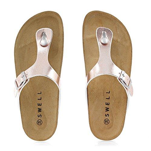 SWELL Aruba Sandal Shoes Rose Gold uvXMt