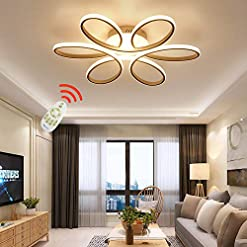 Interior Lighting ZipLighting Modern LED Ceiling Light Dimmable Ceiling Lighting with Remote Round Ceiling Light Fixture Ceiling Lamp… modern ceiling light fixtures