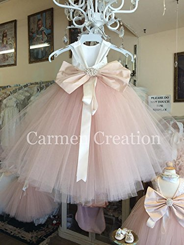 Mini Bride Flower Girl Dress 1001 NB by Carmen Creation