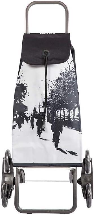 Rolser IMX054 - Carrito de la compra para subir escaleras - I-Max City - Aluminio 47,5 x 39,5 x 107 cm Plata: Amazon.es: Hogar