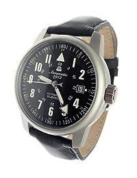 Aeromatic 1912 22-Jewel Automatic Aviator's Watch A1027 Black