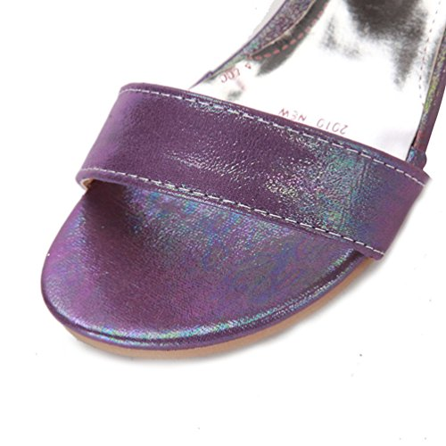 D'été Romain À Découpées Sandales Lacets Compensées Gladiateur Femme Violet Pour Chaussures 2 Youjia UtSF5qnwt