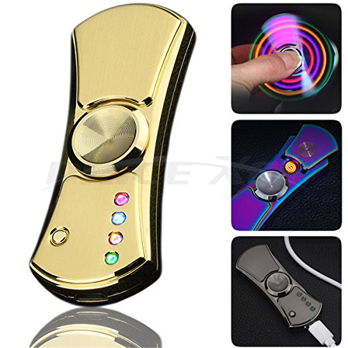 Rotable LED Electronic Cigarette Cigar Lighter Multifunction Electric Plasma Lighter - Tesla Coil Rechargeable with USB Electronic Cable Windproof Smoking Tools Accessories Best Gift (Multifunction Lighter)