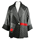 Moonlight - Contrast Squares Asian Style Jacket with Red Patchwork Accents