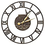 Whitehall Martini Floating Ring 21-In Indoor Outdoor Wall Clock (French Bronze)