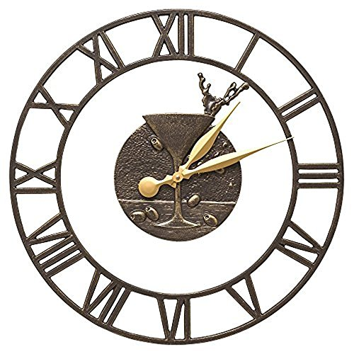 Whitehall Martini Floating Ring 21-In Indoor Outdoor Wall Clock (French Bronze) by Whitehall